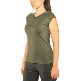 Millet Cloud Peak Short Sleeve Shirt Women grape leaf
